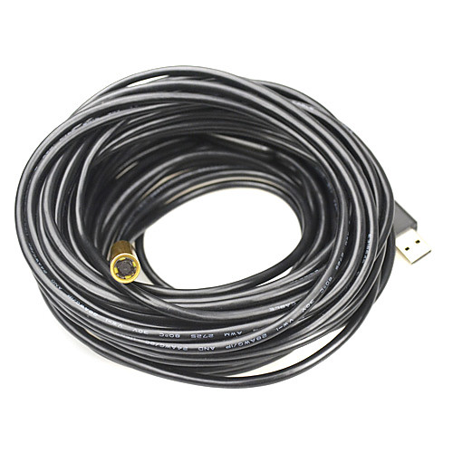 IP67 Водонепроницаемый USB 2.0 CMOS 10mm объектив 4-LED Змея камеры эндоскопа - черный  золотой (20м) Lightinthebox 1847.000