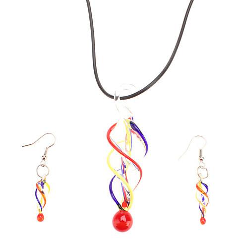 Резьбой форме Установить ювелирные изделия глазурью (разные цвета)