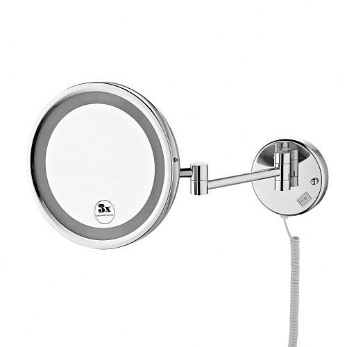 8,5-дюймовый хромированная отделка настенное крепление косметическое зеркало с подсветкой Lightinthebox 4296.000