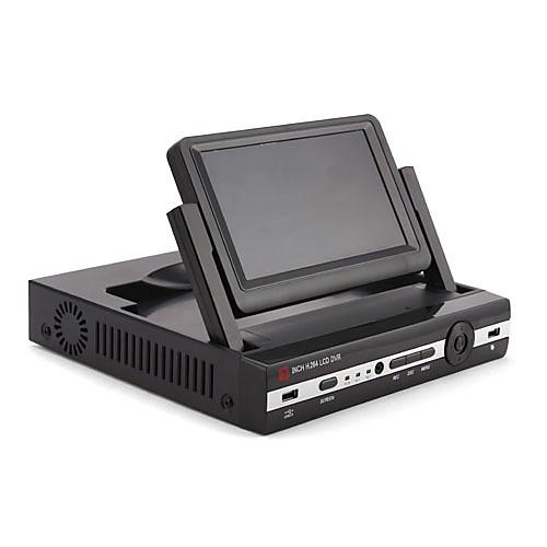 Новые прибытия 8-канальный DVR CCTV с 7-дюймовым ЖК-дисплеем Щебень (H.264, 2 канала D1 6 CH CIF в реальном времени) Lightinthebox 5413.000