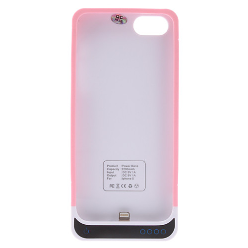 Чехол для iphone 5/5s с внешней батареей (2200mAh) и USB кабелем (цвета в ассортименте) Lightinthebox 1072.000