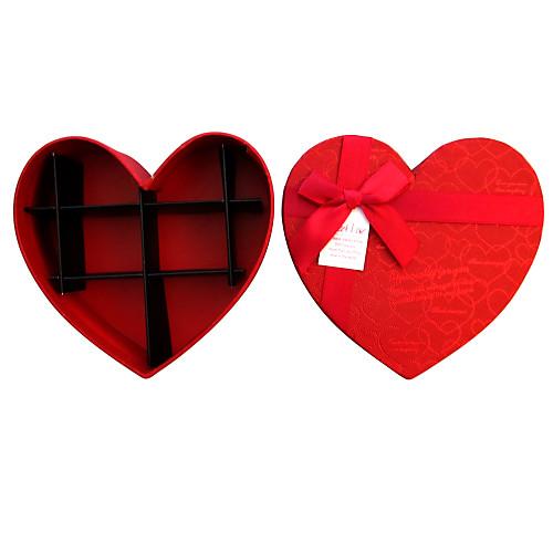 Коробка подарочная в форме сердца с лентой и внутренними разделителями пространства Lightinthebox 128.000