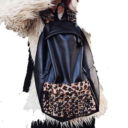 Vintage Модные женские Rivet Leopard Рюкзак Lightinthebox 1142.000