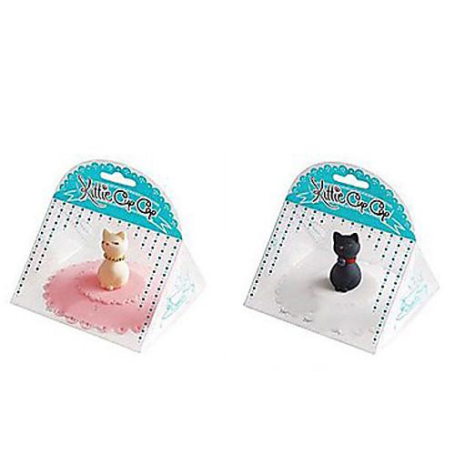 кошка картины силиконовую миску крышкой чашку крышкой (случайный цвет) Lightinthebox 171.000