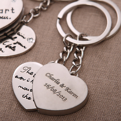 персонализированные брелок сердце - сердце, чтобы вы (набор из 4-х пар) Lightinthebox 341.000