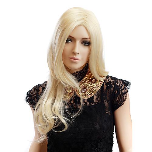 Монолитным длинные золотистые Блондинка Волнистые Высокое качество синтетический парик волос Lightinthebox 1718.000