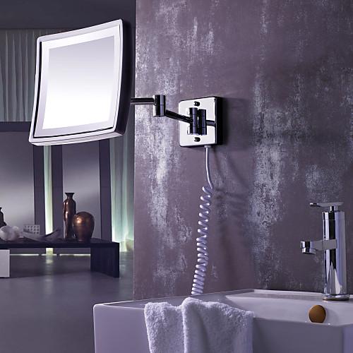 Площадь 8,5-дюймовый дисплей со светодиодной Настенная хромированная отделка Зеркало Lightinthebox 5156.000