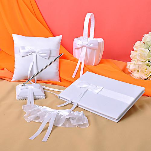 Свадебная коллекция набор из белого атласа с лентами (5 штук) Lightinthebox 1449.000