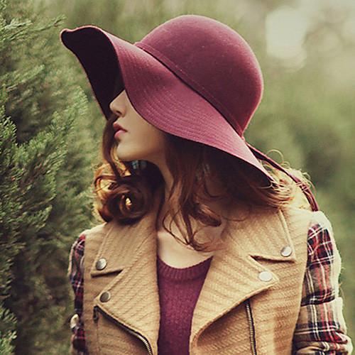 Женская мода шерсти Tweed Hat Lightinthebox 871.000