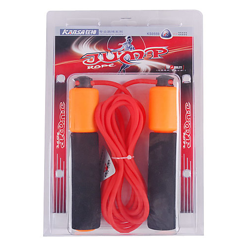 Спортивная скакалка со счетом. Регулируемая длина (3,1 м), мягкие ручки, цвета в ассортименте Lightinthebox 214.000