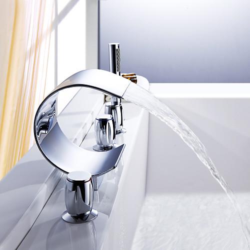 Sprinkle - водопад ванной смеситель с ручным душем (изогнутый дизайн формы) Lightinthebox 4726.000