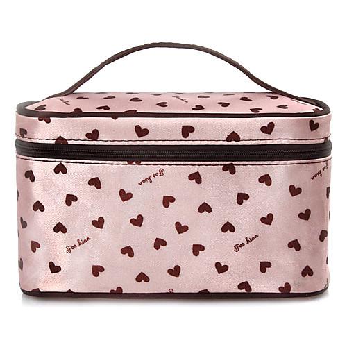 Pink Heart Pattern портативный косметический макияж мешок руки чехол сумка с косметическим зеркалом Lightinthebox 257.000