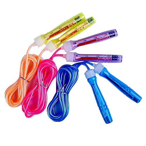 Спортивная скакалка из поливинилхлорида с пластиковыми ручками, 3 м, цвета в ассортименте Lightinthebox 128.000