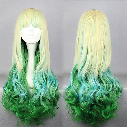 Лолита парик вдохновлен молнии elflord золотых и зеленых смешанных косплей 75см цвет Lightinthebox 1718.000