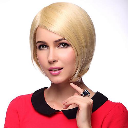 Монолитным короткие прямые 100% человеческий волос парики Lightinthebox 2857.000