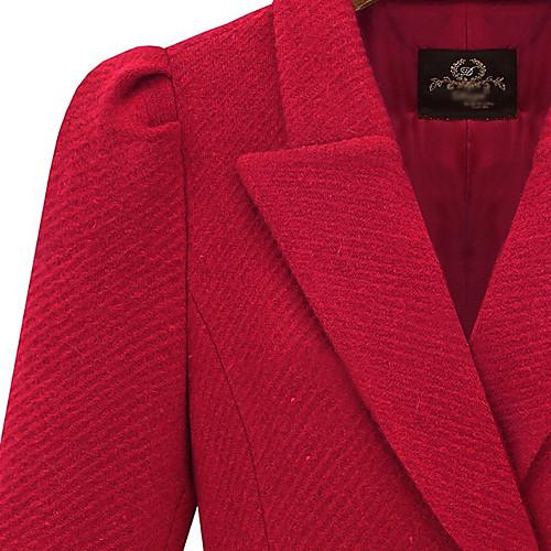 Специально Ruffle Женская Hem твидовые пальто Lightinthebox 2653.000