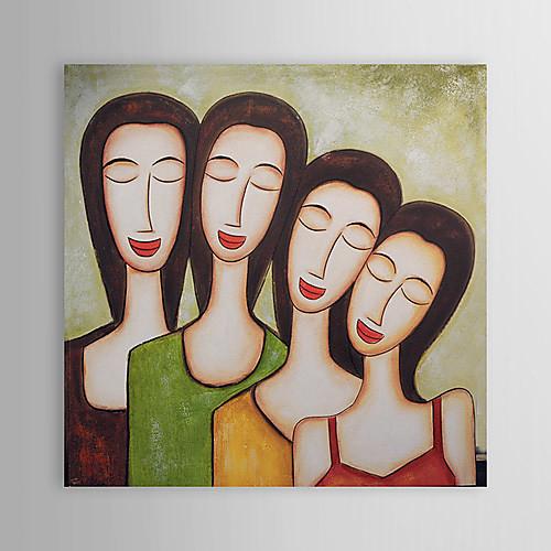 Ручная роспись маслом портреты людей с растянутыми кадр 24