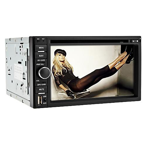 6,2 дюймовый 2DIN автомобильный DVD-плеер с ТВ, GPS, iPod, RDS Lightinthebox 6273.000