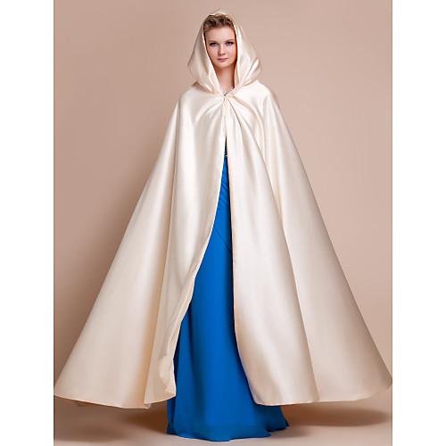 Длинный атласный плащ-накидка для свадебного/вечернего платья (цвета в ассортименте) Lightinthebox 3437.000