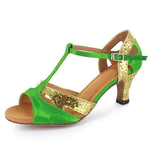 Индивидуальные Женская атласная T-Strap латинский / Бальные танцы туфли с пряжкой (другие цвета) Lightinthebox 1073.000