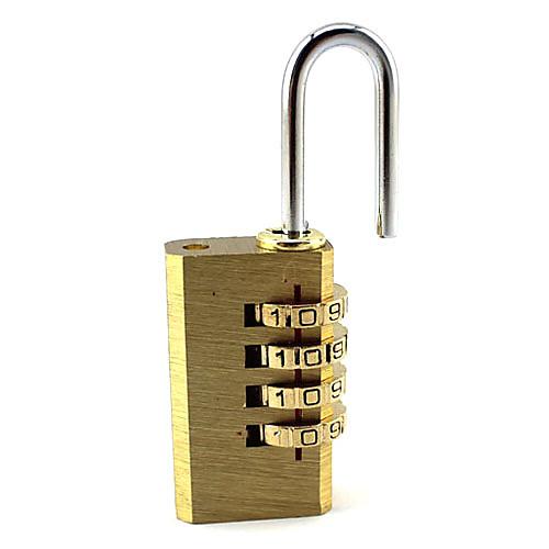 Портативный Медь 4-цифровой маркировкой Padlock Lightinthebox 128.000