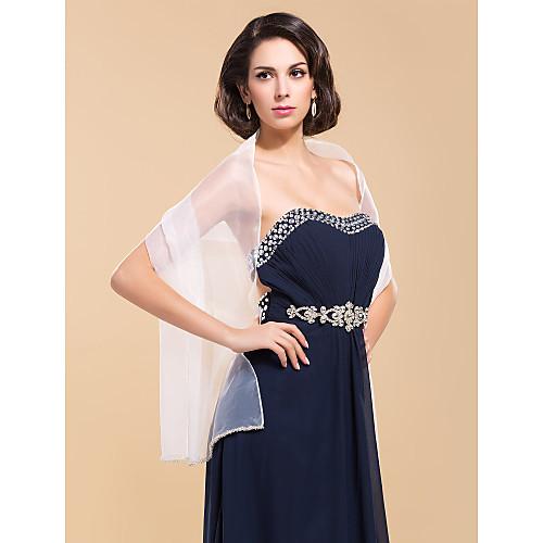 Элегантное свадебное из органзы куртка / Свадьба шаль Lightinthebox 825.000