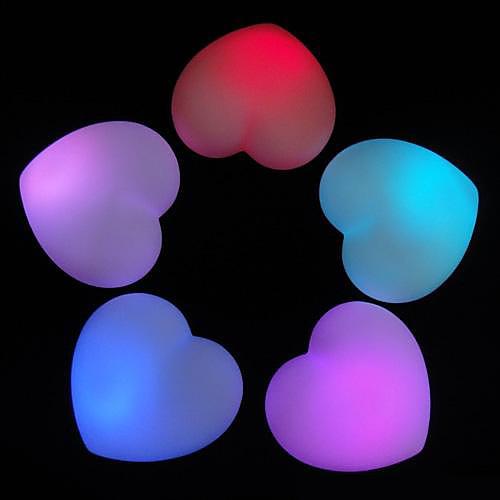 Sweet Heart Shaped Красочный светодиодные ночь свет (3xag13)