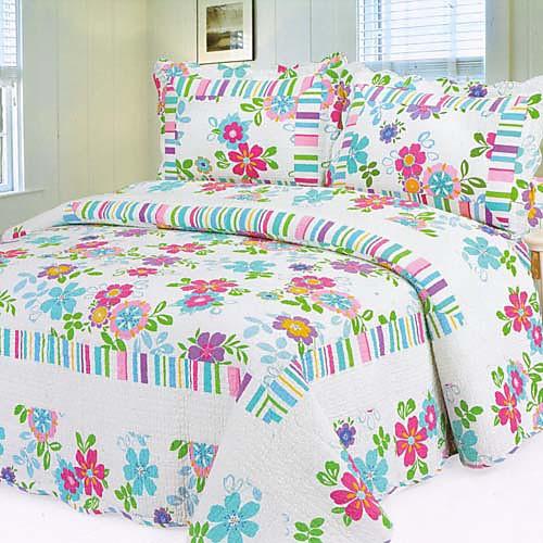 3-х частей промытого красочные цветочные набор одеяло хлопка Lightinthebox 3394.000