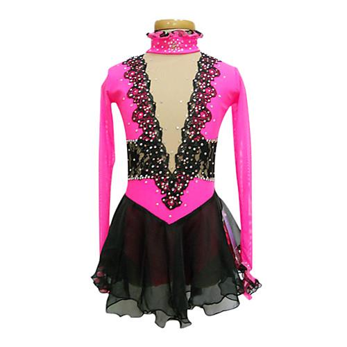 Платье для фигурного катания из шелка и шифона с полупрозрачными вставками из спандекса Lightinthebox 3866.000