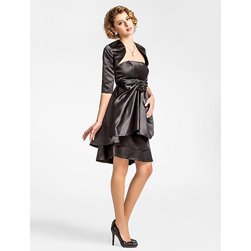JERA - Платье для дам из атласа с накидкой Lightinthebox