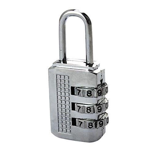 Сплав Al Серебряная 3-значный Комбинация Padlock Lightinthebox 128.000