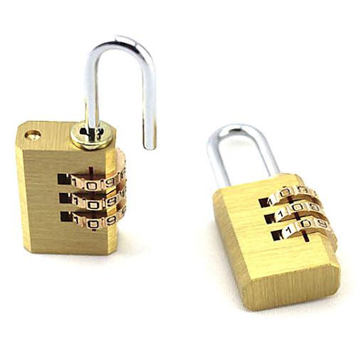 Портативный медь 3-кодированный номер Padlock Lightinthebox 171.000