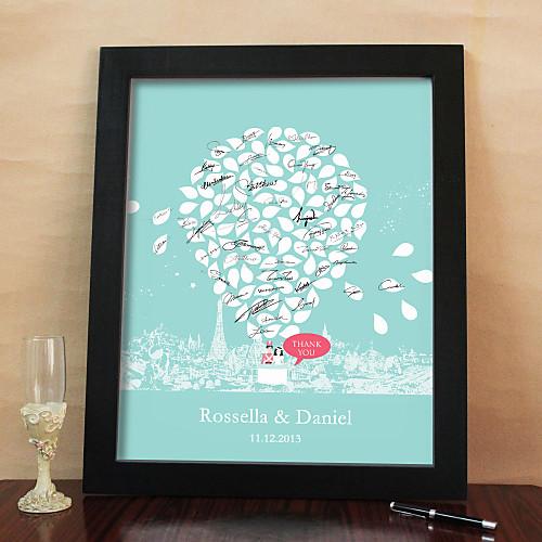 Памятная открытка для сбора подписей гостей свадьбы (с рамкой) Lightinthebox 1589.000