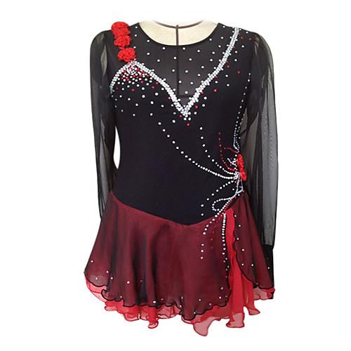 Платье для фигурного катания из корейского бархата, шелка и шифона Lightinthebox 5413.000