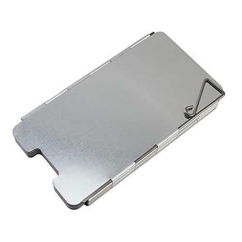 9PCS Al сплав Мангал разборный ветрозащитный платы (65x13.5x0.2CM) Lightinthebox 300.000