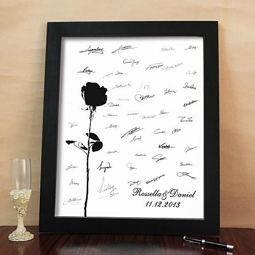 персонализированные кадров холст Подпись - роза (включает в себя кадр) Lightinthebox 1589.000