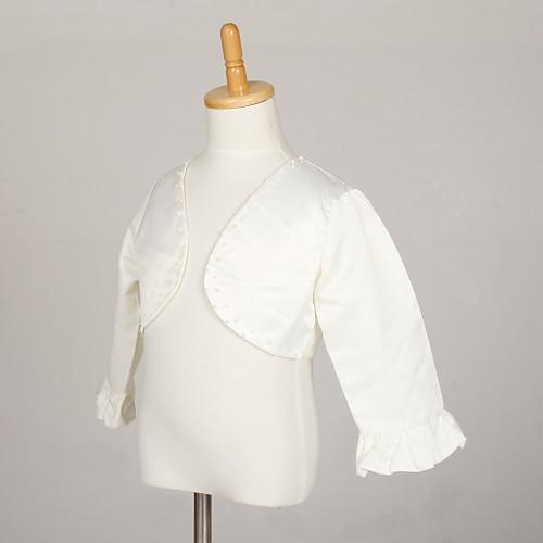 Цветочница куртка с вышивкой бисером атласные вечерние / свадебные Обертывания Lightinthebox 644.000