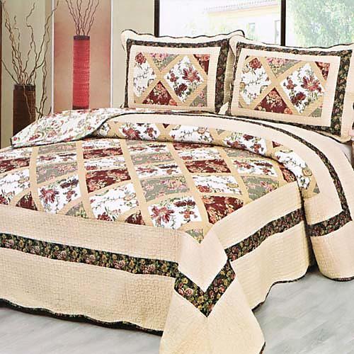 3-х частей традиционной цветочным узором промытый набор одеяло хлопка Lightinthebox 3394.000