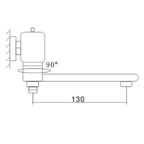 современный стиль Centerset настенного крепления хромированной отделкой краны латунные ванны Lightinthebox 4296.000