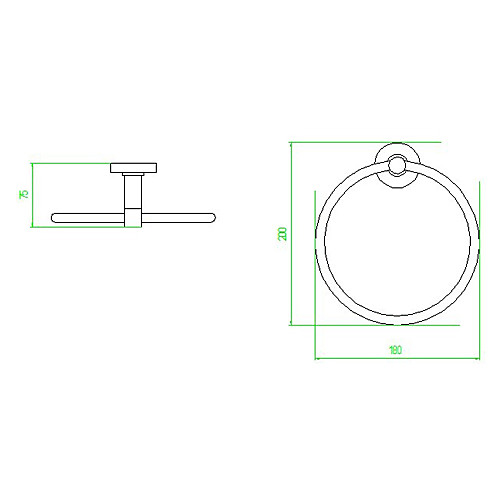 Современный стиль хромированная отделка сплава цинка Настенные Полотенце Кольца (Circle Shape) Lightinthebox 1073.000