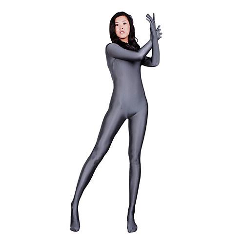 Белый лайкровый костюм на всё тело
