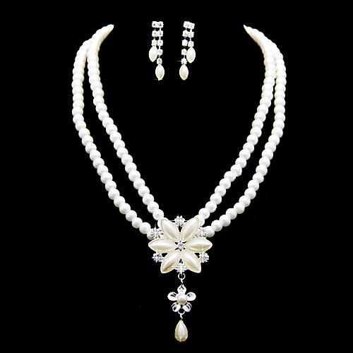 Модные Pearl имитация с ювелирные изделия Rhinestone Женская указан в том числе ожерелья, серьги Lightinthebox 421.000