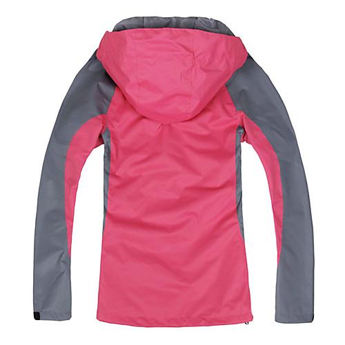 походы и кемпинг langzuyoudang Женская куртка ultraviloet устойчивы съемный синий, красный, оранжевый, Fushia Lightinthebox 3437.000