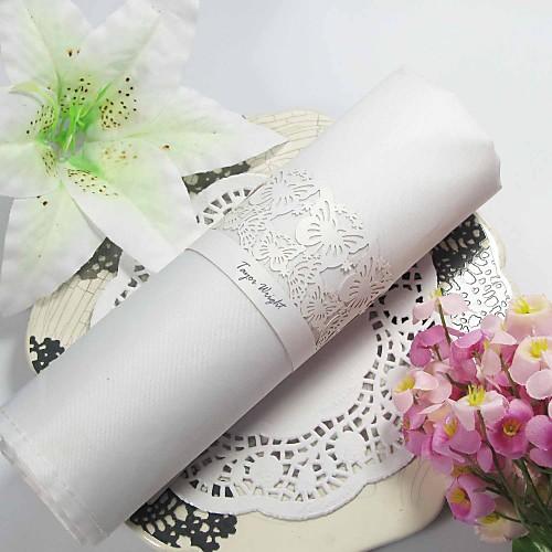 Butterfly Theme Pearl бумажную салфетку кольцо (набор из 12) Lightinthebox 274.000