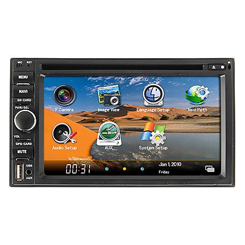 6,2 дюймовый 2DIN автомобильный DVD-плеер с ТВ, GPS, iPod, RDS