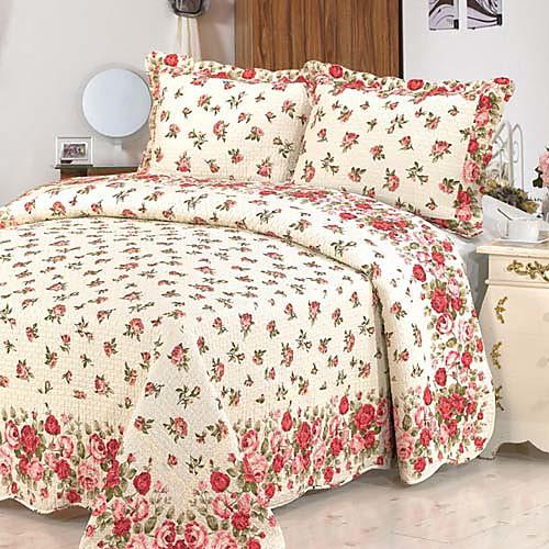 Одеяло в комплекте с 2 наволочками из 100% хлопка в стиле кантри с цветочным принтом Lightinthebox 3007.000