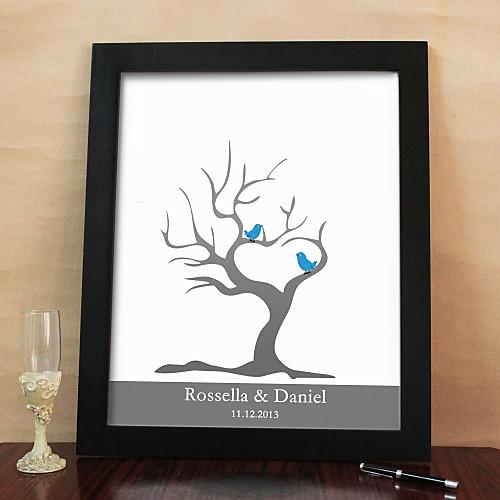 Свадебная памятная открытка для отпечатков пальцев (чернила 6 цветов и рамка) Lightinthebox 1353.000