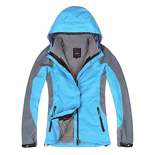 походы и кемпинг langzuyoudang Женская куртка ultraviloet устойчивы съемный синий, красный, оранжевый, Fushia Lightinthebox