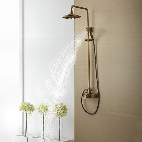 античный латунь ванной душа с 8-дюймовый верхний душ  ручной душ Lightinthebox 6445.000