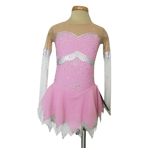 Тупой свет Спандекс Эластичная чистой краской по фигурному катанию одежда Розовый Lightinthebox 3136.000